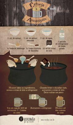Receita infográfico de Cerveja Amanteigada
