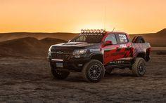 Download imagens 4k, Chevrolet Colorado do zr2 tremolo, 2018 carros, SUVs, deserto, offroad, Chevrolet