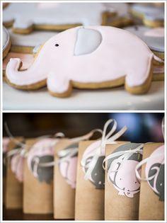 Pretty little elephant party treats