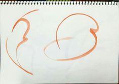 피겨 기술의 동작 하나씩을 팔, 다리의 이동선을 생각하면 단순화하여 하나의 선으로 표현하였습니다. (물감)