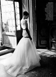 Cinderella Story: #EdieCampbell by #DavidSims for #VogueUS September 2013
