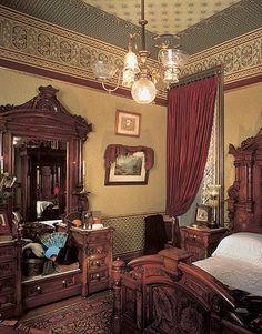 Superb Victorian Eastlake Carved Walnut Amp Burl Walnut High