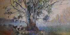 By the big tree - Eric Eatwell Country Scenes, Big Tree, Eating Well, Online Art Gallery, Artwork, Painting, Work Of Art, Painting Art, Paint