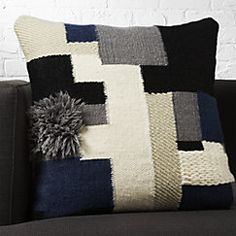 """View larger image of 23"""" segment pillow with down-alternative insert"""