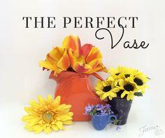 Repurposing Fiestaware as a Vase @ alwaysfestive.com