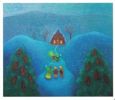 Anna-Liisa Hakkarainen Postcards, Buildings, Scenery, Anna, Houses, Illustrations, Christmas, Painting, Beautiful