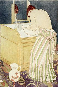 Femme à la toilette, 1890-91, Mary Cassatt                                                                                                                                                     Plus