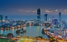View of harbour and Colombo City lights in early evening. Colombo may be Sri Lanka's largest city, but it's full of laid back, island charm. Colombo Tourism, Europe Travel Tips, Travel Destinations, Travel Articles, Travel Tours, Le Sri Lanka, Honeymoon Tour Packages, Best Places In Europe, Europe Continent