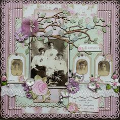 A Heritage Layout using Kaisercraft papers and Dusty Attic chippie and flowers.