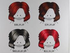 Whimsie Doodles: Tuesday Tutorial Colouring Hair with Copics