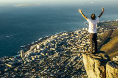 Cape Town - On top of Lion's Head - lucky to live in such beauty