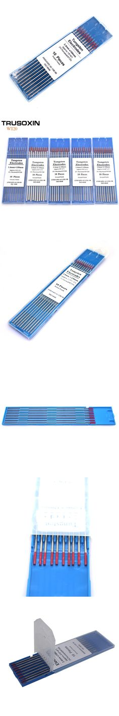 10 pcs red color code 1.6 * 150 Thorium tungsten electrode head tungsten rod needle/wire for TIG WSME SUPER welding machine