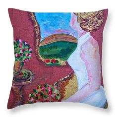 Lady in White Throw Pillow x White Throw Pillows, Pillow Sale, Great Artists, Tapestry, Art Prints, Lady, Design, Hanging Tapestry, Art Impressions