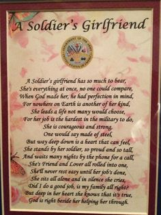 Proud to be an Army girlfriend.