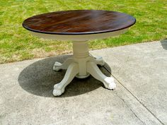 Claw Foot Table Redo Round Dining Table
