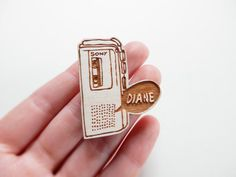 Twin Peaks Brooch  'Diane' by kateslittlestore on Etsy, $11.00
