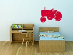 COMES IN TONS OF COLORS!!!!!!!!!!!!!!!!!! Tractor - Kids Boys Bed Room - Picture Art - Peel & Stick Vinyl Wall Decal Sticker 20x30 by Design With Vinyl Decals, http://www.amazon.com/dp/B009JDNNBW/ref=cm_sw_r_pi_dp_kCRerb0HW1DXB