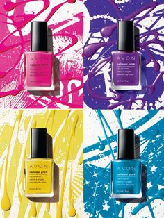 Get on-trend and summer-ize nails with high voltage color and dazzling accents. SEE the #nailpolish colors NOW http://mbertsch.avonrepresentive.com