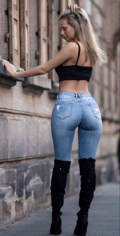 Shop Sexy Trending Bottoms – Boutiquefeel offers the best women's fashion Bottoms deals Mode Outfits, Girl Outfits, Fashion Outfits, Womens Fashion, Black Girl Fashion, Looks Pinterest, Pernas Sexy, Sexy Jeans, Curvy Jeans