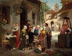 A New Sign For The Old Inn    Henry Bacon (1839 – 1912, American)