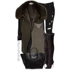 Fly Chick by highfashionfiles on Polyvore featuring Rick Owens, River Island, Levi's, Giuseppe Zanotti and CÉLINE