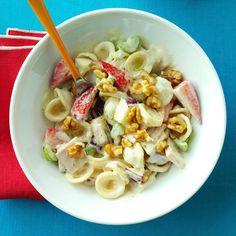 Recipe -A Waldorf salad inspired my pasta dish. I use smoked turkey ...