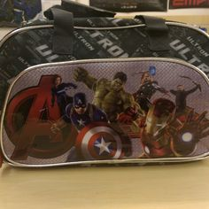 """""""Excellent quality avenger age of ultron bowling styled bag ideal as a overnight bag, sports bag or school bag £10 off today, was £36 now £26! #avengers #avengersageofultron #schoolbag #sportsbag #overnightbag"""" Photo taken by @diversionsgifts.co.uk on Instagram, pinned via the InstaPin iOS App! http://www.instapinapp.com (07/01/2015)"""