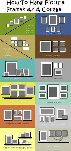 Фото из статьи: Как красиво повесить фотографии: 75 схем размещения