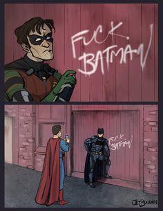 jaytimficnet - Batman Funny - Ideas of Batman Funny - jaytimficnet Batman Y Superman, Marvel Dc Comics, Funny Batman, Superman Games, Superman Cosplay, Venom Spiderman, Math Comics, Funny Comics, Batman Universe