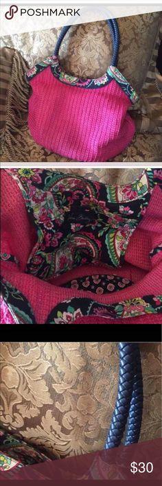 Vera Bradley shoulder bag Pink summer colors perfect no flaws Vera Bradley Bags Shoulder Bags