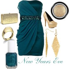 new years eve. love this color combo! Dress Me Up, I Dress, Love Fashion, Fashion Beauty, Girl Outfits, Cute Outfits, Party Outfits, Polyvore Casual, New Years Eve Outfits