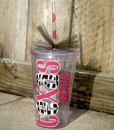 Texas Aggie Tumbler - Pink/Zebra/White Acrylic Tumbler. $10.00, via Etsy.
