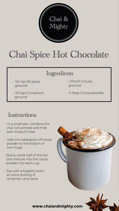 Chai & Mighty is the best tea brand in India. Buy loose tea leaves, tea bags, Assam/Darjeeling tea, white, oolong and green tea online. Chai Tea Recipe, Latte Recipe, Tea Recipes, Coffee Recipes, Cooking Recipes, Smoothies, Smoothie Drinks, Yummy Drinks, Healthy Drinks