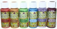 DecoArt Patio Paint for all your outdoor craft projects! No sealer or varnish required. Durable for use on any surface.
