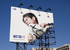 Billboard Ad for a toothpaste