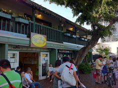 Pancakes in Paradise – Breakfast at Waikiki's Eggs n Things.    yummy pancakes with coconut syrup!!