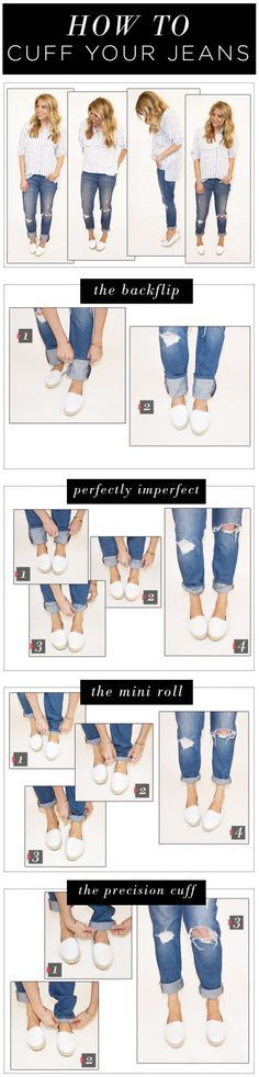 How to cuff your jeansVia
