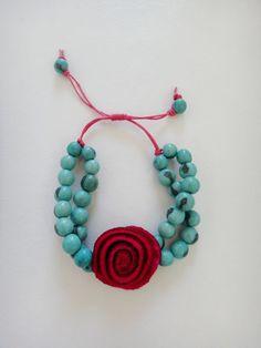 d22111124018 Irma Guzman Eco Jewelry - Orange peel bracelet with acai seeds