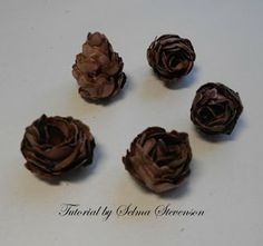Selma's Stamping Corner: Create your own Pine Cones with Susan's Garden Dies