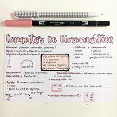 "1,077 curtidas, 17 comentários - Futura Dra. Gabriela⚕️ (@sonhodamedicina) no Instagram: ""Física - CONCEITOS BÁSICOS DE CINEMÁTICA. #resumosonhodamedicina #resumos #fisica"""