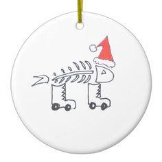 "Lisa Carroccio Art ""Dead Fish on Rollerblades at Christmas"""