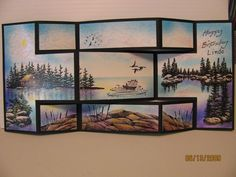 Trish's Artistic Adventures: Search results for Lakeside view Tri Fold Cards, Fancy Fold Cards, Folded Cards, Trifold Shutter Cards, Lakeside View, Nautical Cards, Owl Card, Step Cards, Shaped Cards
