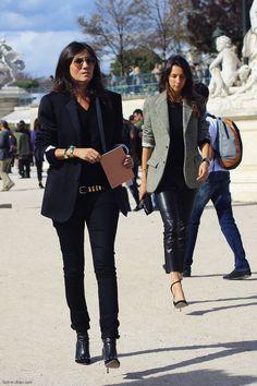 Emmanuelle Alt and Geraldine Saglio - Fash n Chips - http://www.fash-n-chips.com/2013/01/emmanuelle-alt-and-geraldine-saglio.html