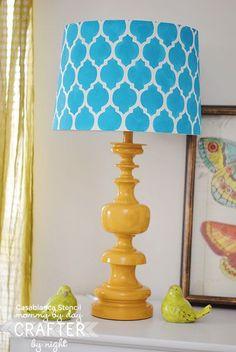 lamp shade casablanca stencil mommy by day crafty by night
