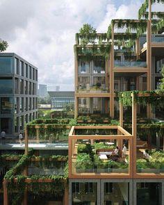 "22.8 mil Me gusta, 103 comentarios - Architecture & Design Magazine (@d.signers) en Instagram: ""Amazing Concept! Plan Rebel designed by Studioninedots + Delva Landscape Architecture #d_signers…"" #LandscapeArquitecture"