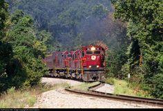 RailPictures.Net Photo: AM 44 Arkansas & Missouri Railroad Alco C420 at Garfield, Arkansas by David Hawkins