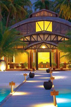 The resort is only reachable by a 40-minute seaplane ride. #Jetsetter Angsana Velavaru (Velavaru, Maldives)
