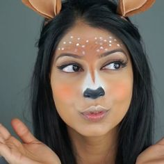 You've seen Kim Kardashian use this one all the time with North and with other pals on her Snapchat, and now you can be your very own squeaky-voiced deer (okay, the voice thing is up to you). Arshia's Makeup shows you how to make your own adorbs deer. Ears not included! Snapchat Filter Costumes Are This Year's Halloween Win