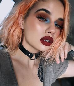 "35.4k Likes, 71 Comments - Lime Crime (@limecrimemakeup) on Instagram: ""Grunge goddess @laurenrohrer wearing Low Cut from the limited edition M$LF set and a mix of Warm…"""