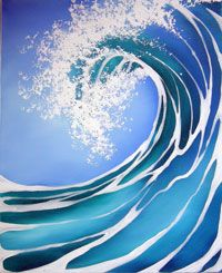 Lamorna Penrose online gallery, featuring a selection of paintings from the Sitting Pretty, California Dreaming, Blue Crush and Riddle of the Sands series. Wave Art, Sea Art, Falmouth Cornwall, Skateboard Art, Ocean Waves, Samurai Tattoo, Landscape Art, Amazing Art, Photo Art